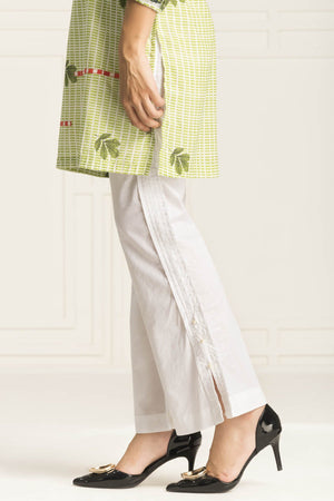 White Pleated Trouser