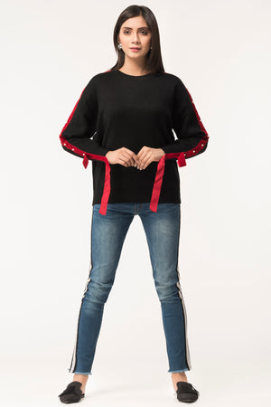 Red Tape Sweater