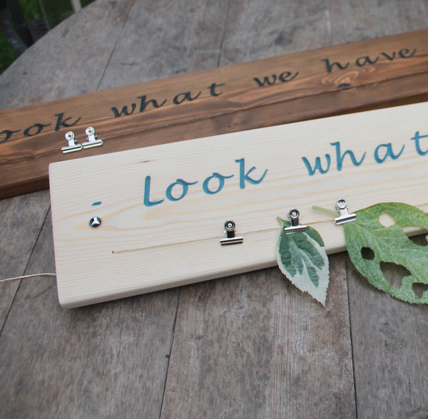 Look What I Did Children Artwork Wall Sign