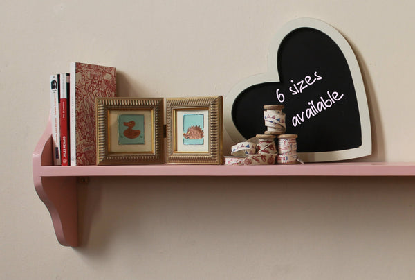 pink shelf children room book ledge