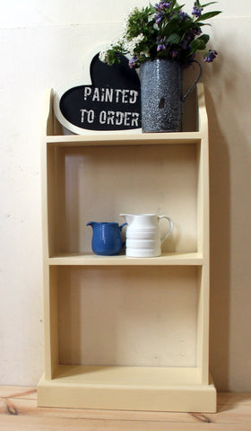 ready assembled free standing book shelf hand painted