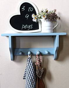 shelf with coat rack