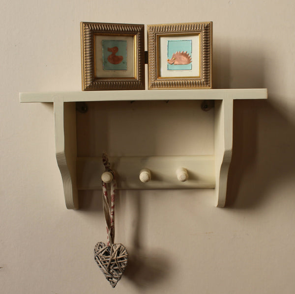 wall mounted solid  pine shelf