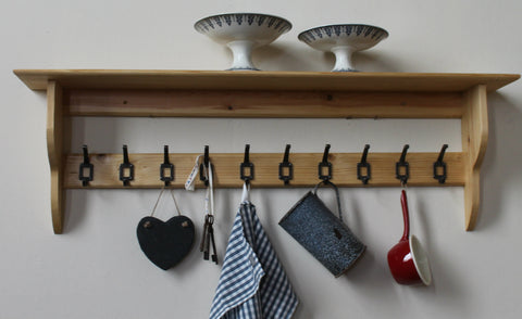 mudroom storage shelf with hooks