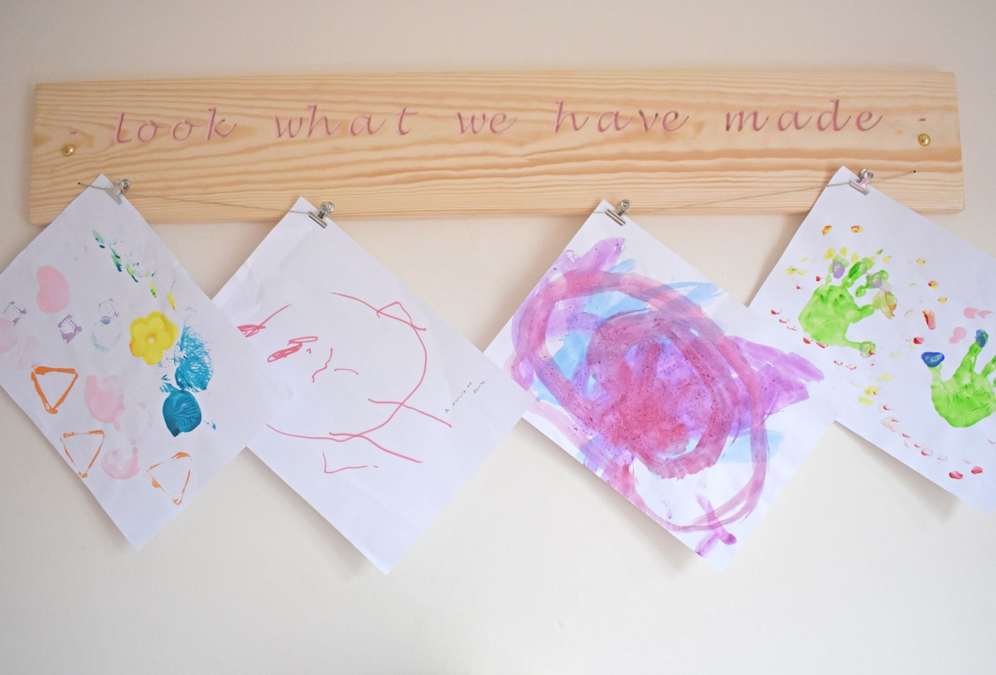 "Kid Artwork Display Sign ""Look What We Have Made"""