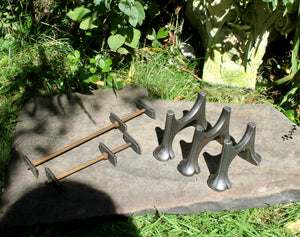 vintage cast iron radiator feet and wall stays