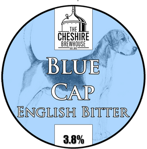 Blue Cap pump clip by The Cheshire Brewhouse