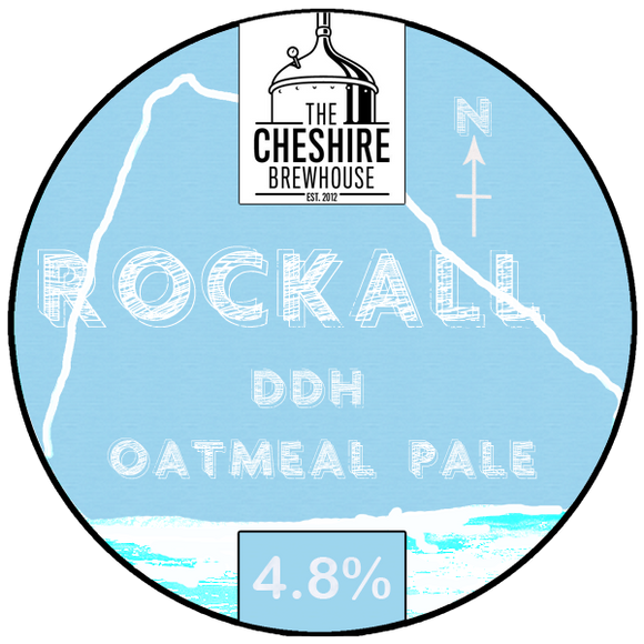 Rockall DDH Oatmeal Pale pump clip by The Cheshire Brewhouse