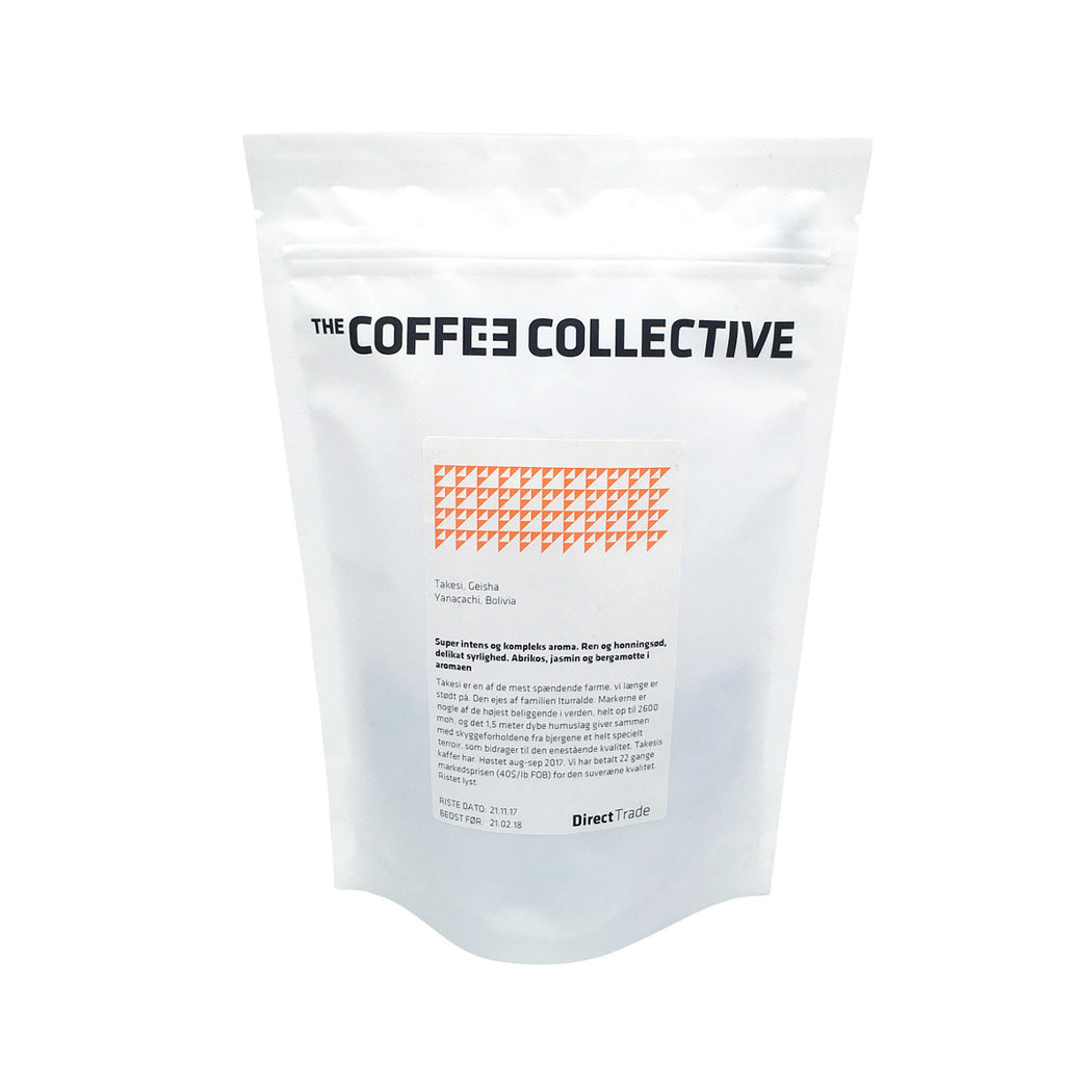 Coffee Collective pörkölt kávé - Takesi Geisha (120 gr.)