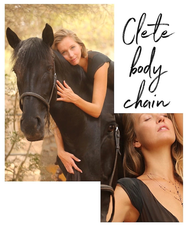 clete body chain in black