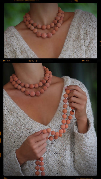 coral necklaces for this winter season