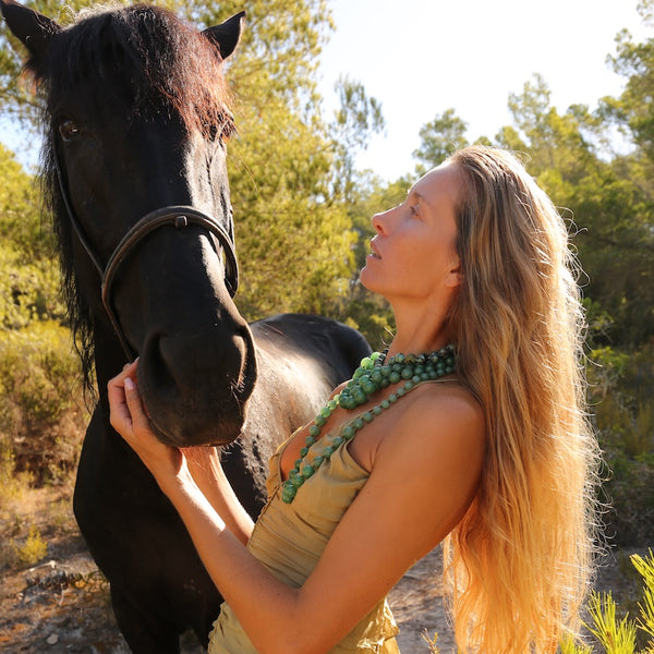 demeter horse my inspiration for body chain jewelry and gemstone necklaces