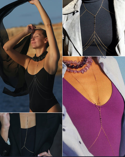 How to wear a body chain over your cloths