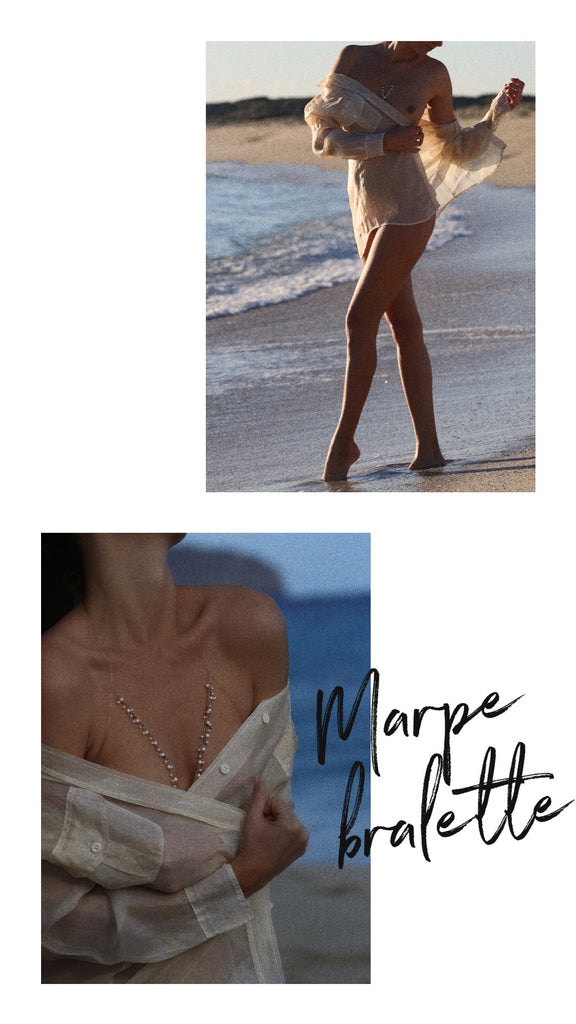 Marpe bralette on the beach