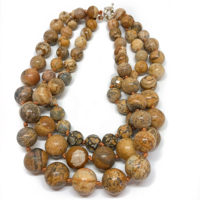 chunky gemstone necklace to make a statement