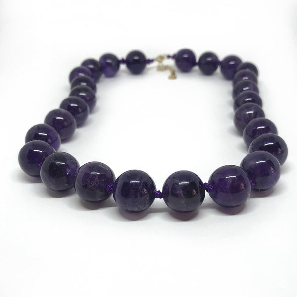 beaded amethyst gemstone necklace