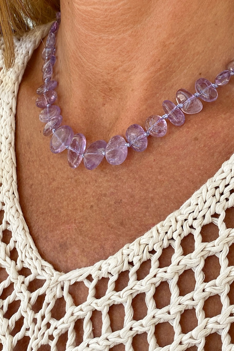 light purple amethyst necklace