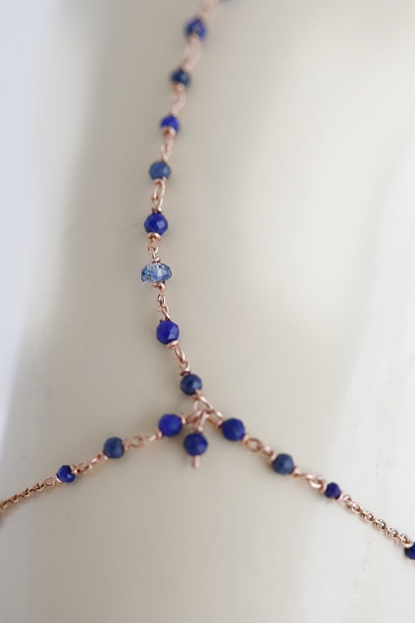 blue hand chain jewelry