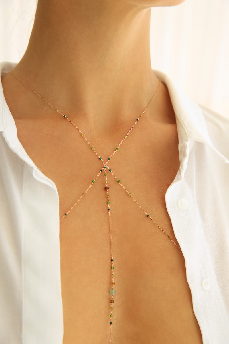 Green ARETO body chain
