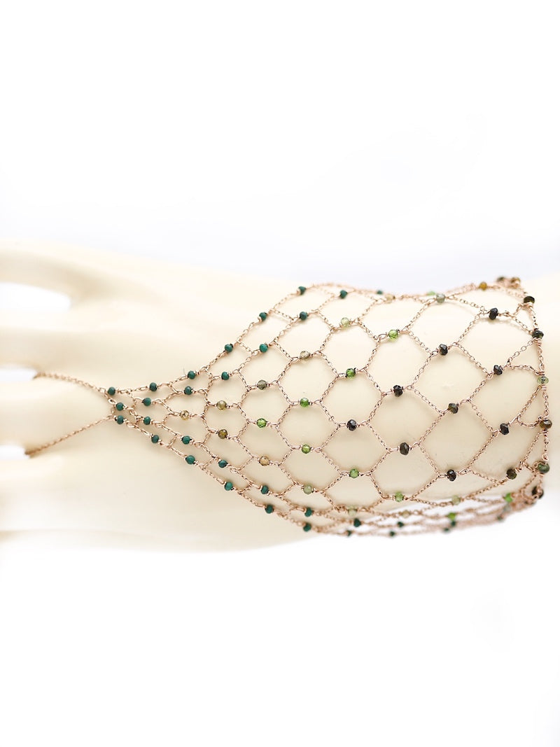 luxurious green hand chain