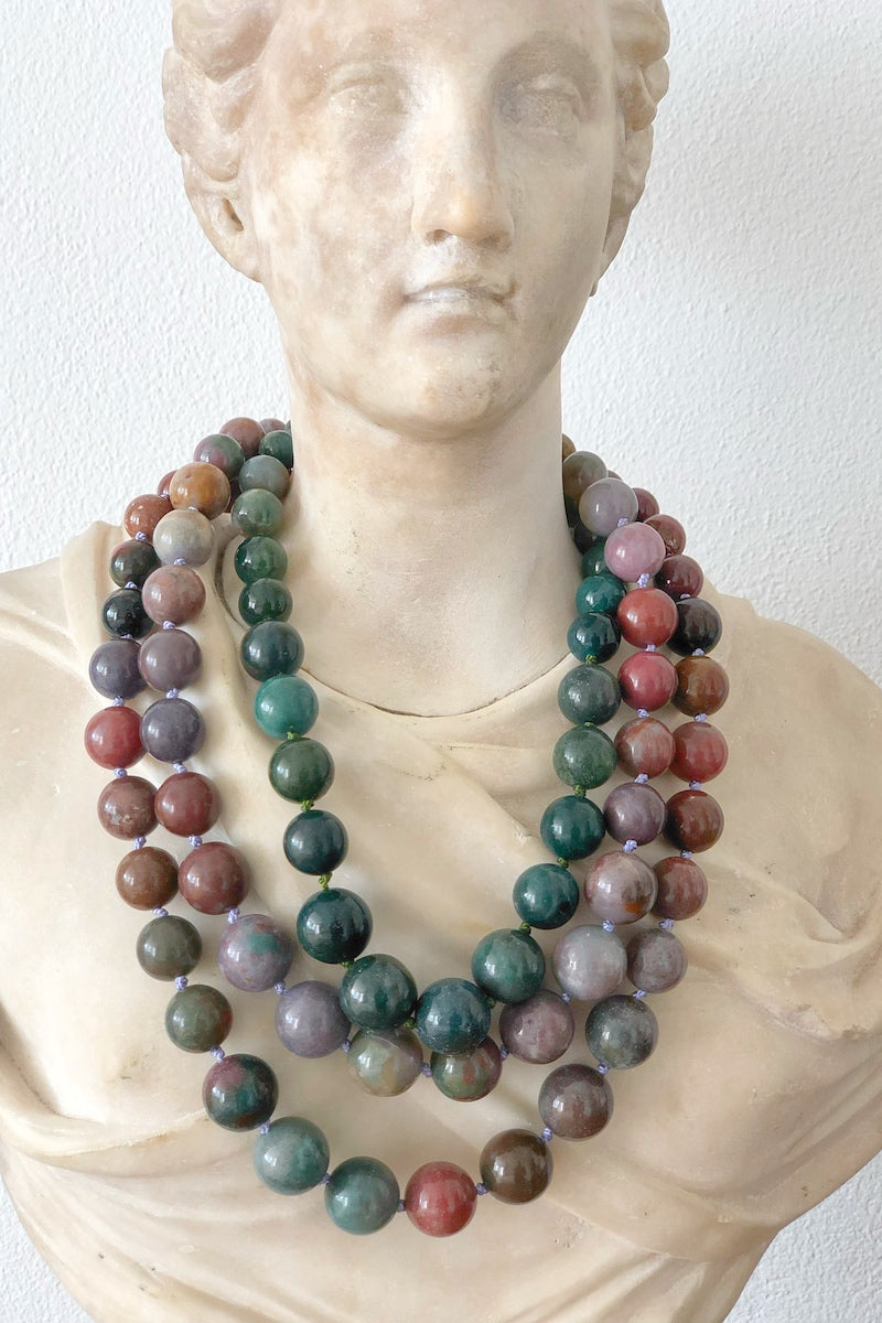 chunky gesmtone necklace