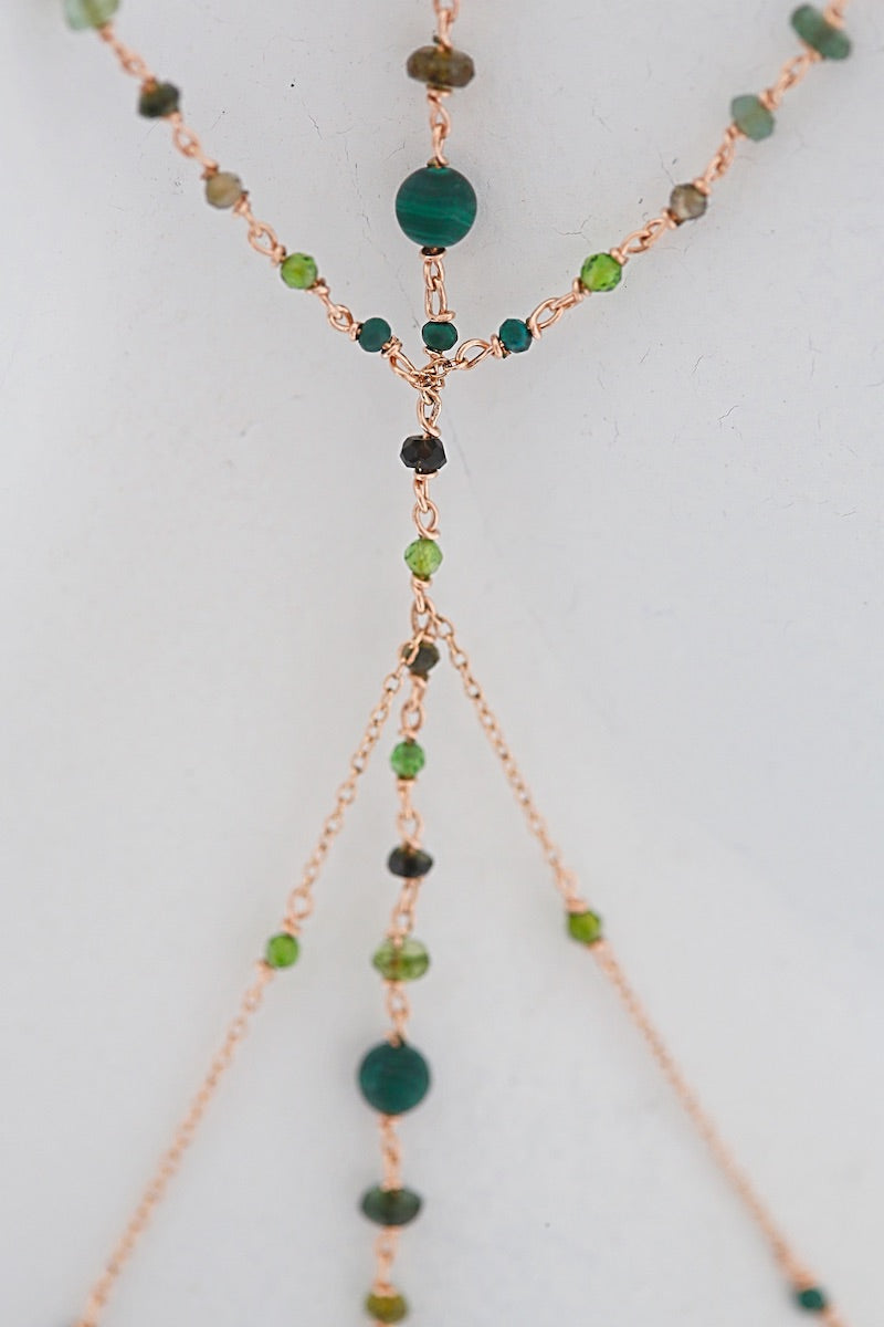 green gemstones from the body jewelry