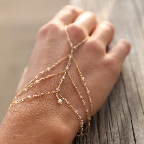 delicate and elegant hand chain