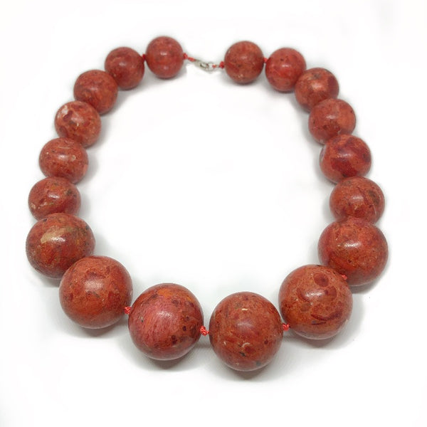chunky coral necklace