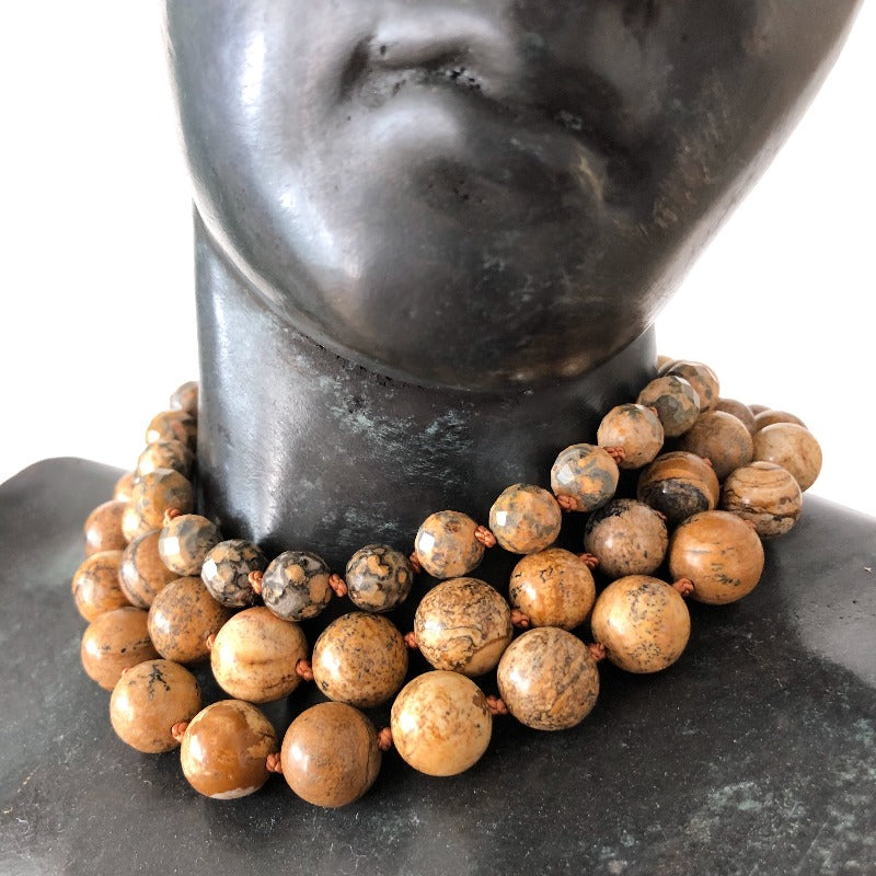 Wood jasper necklace