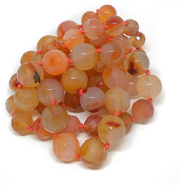 carnelian healing crystal necklace