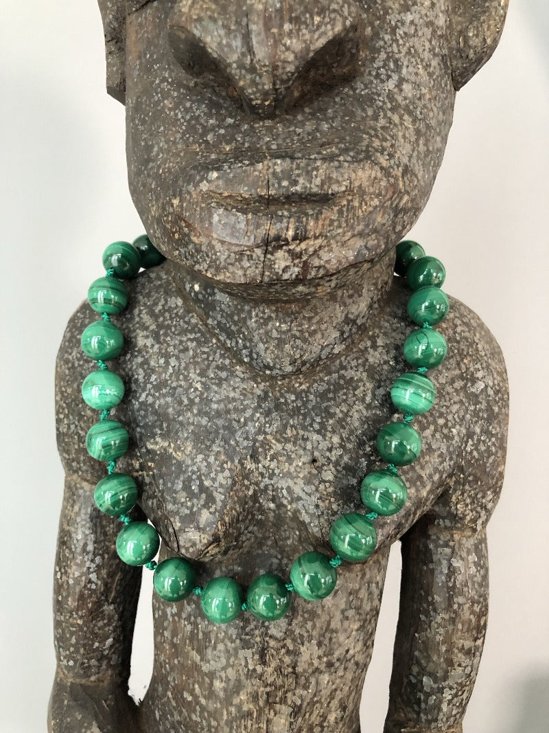 malachite choker necklace