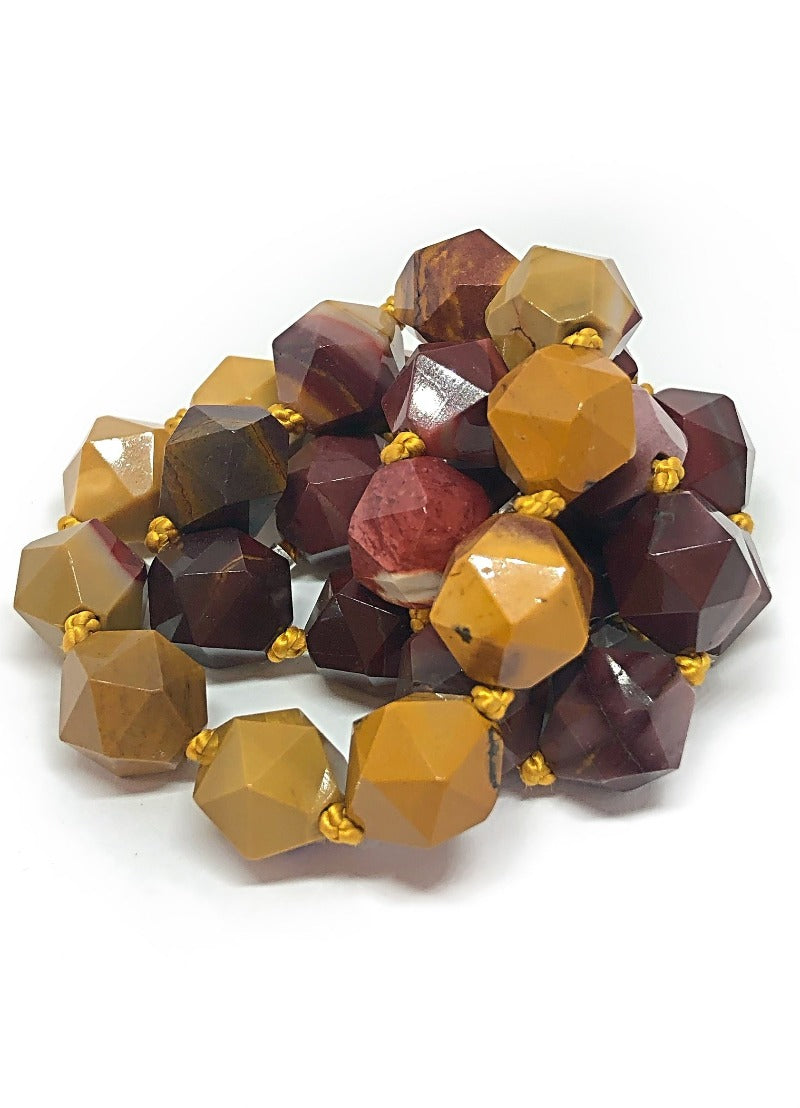 Mookaite faceted necklace