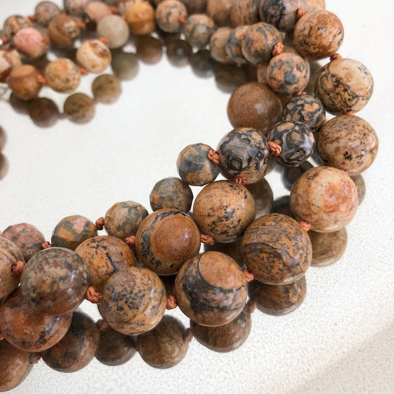 picture jasper or wood jasper gemstone necklace