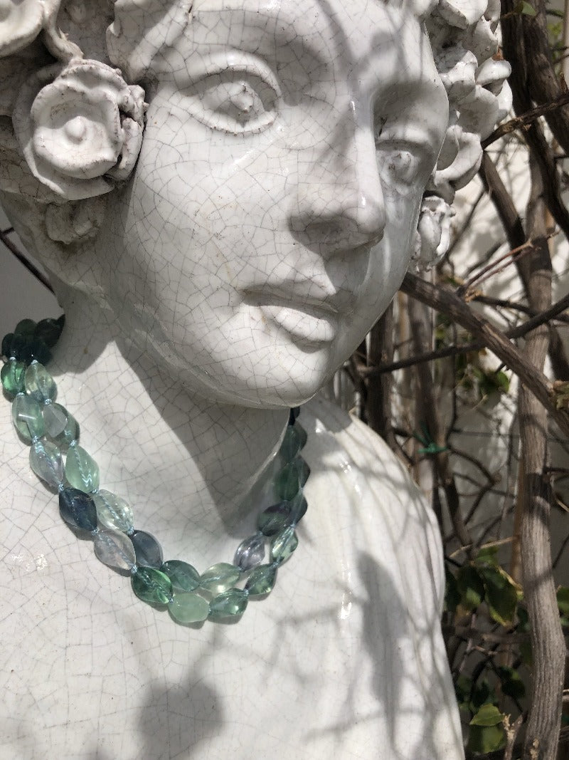 wear your fluorite necklace this summer