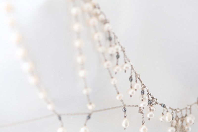 luxurious pearl body jewelry