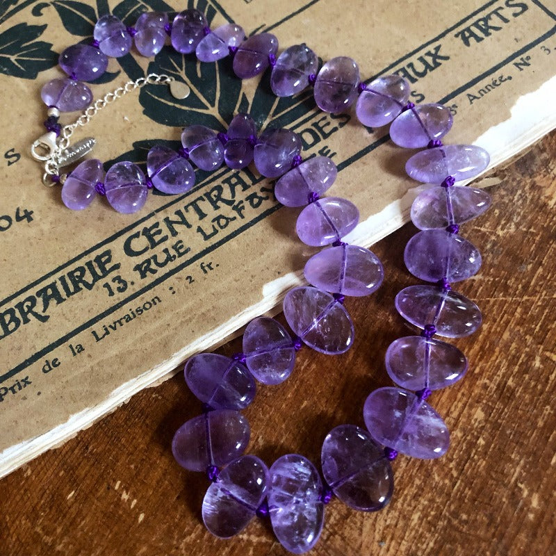 purple chunky amethyst necklace