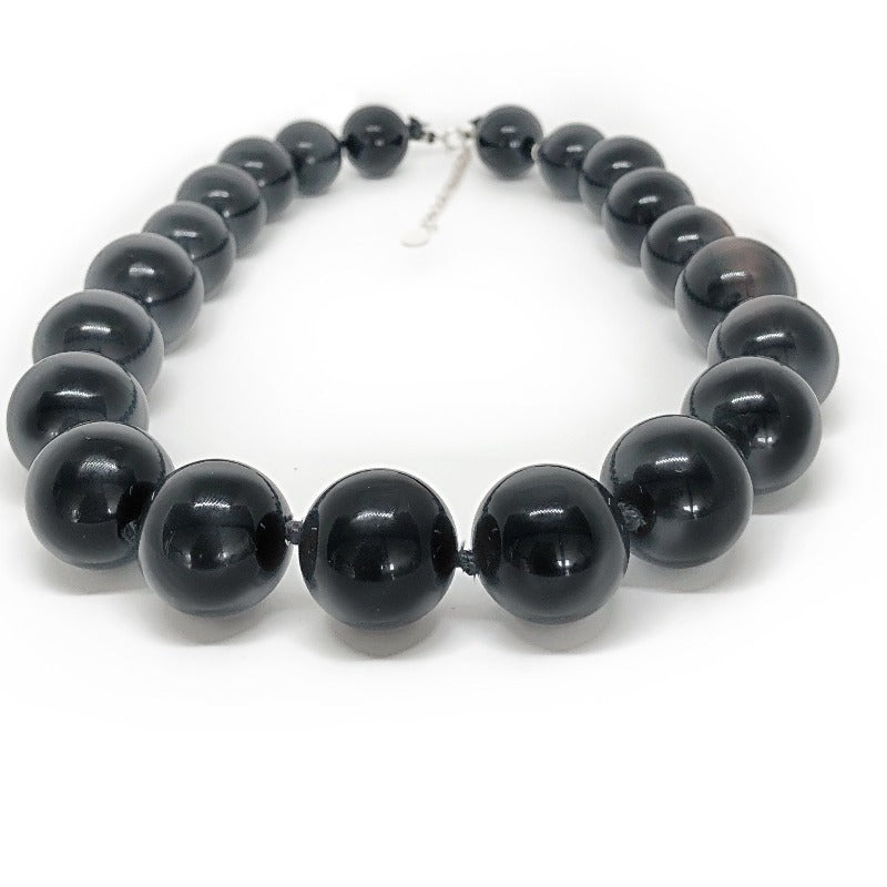 black onyx healing crystal necklace
