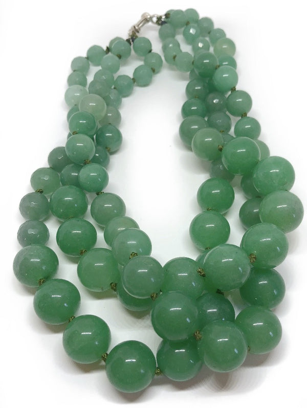 Three strand aventurine necklace