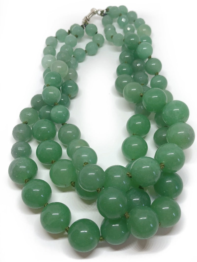 aventurine healing crystal necklace