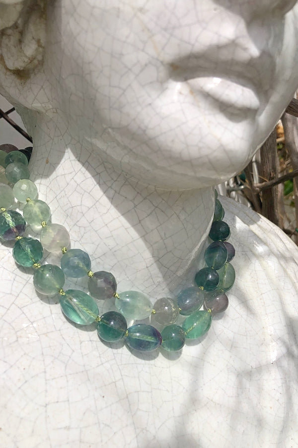 green fluorite necklace