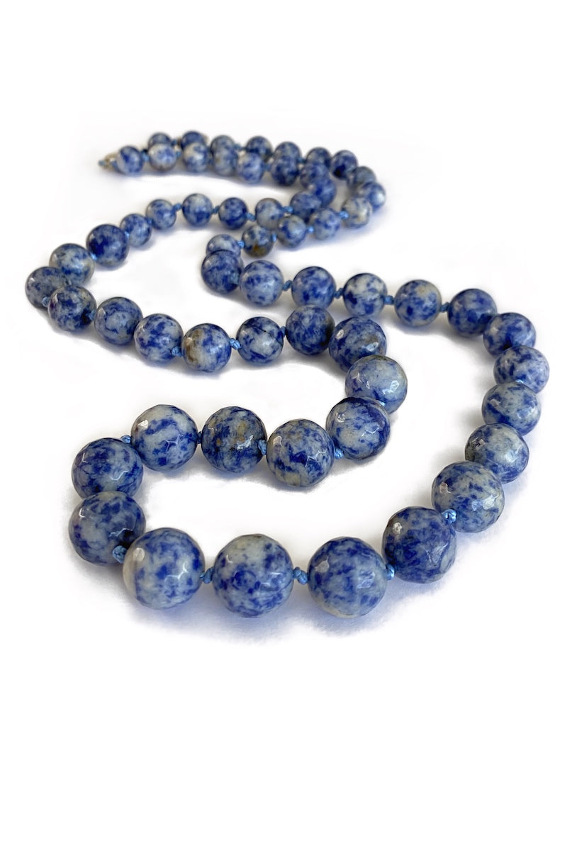 long sodalite gemstone necklace
