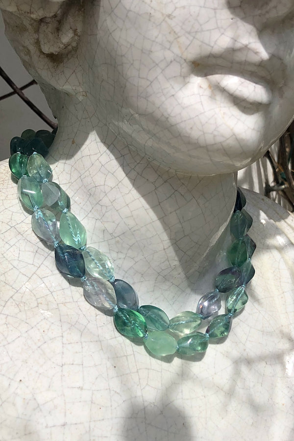 long turquoise fluorite necklace