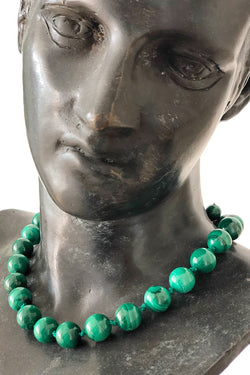 green malachite gemstone necklace