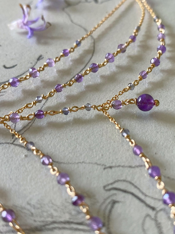 tanzanite gemstone hand chain