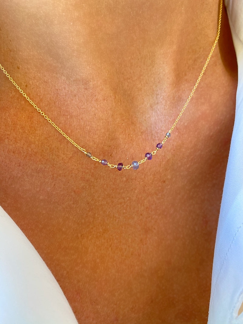 Purple Lykopis necklace
