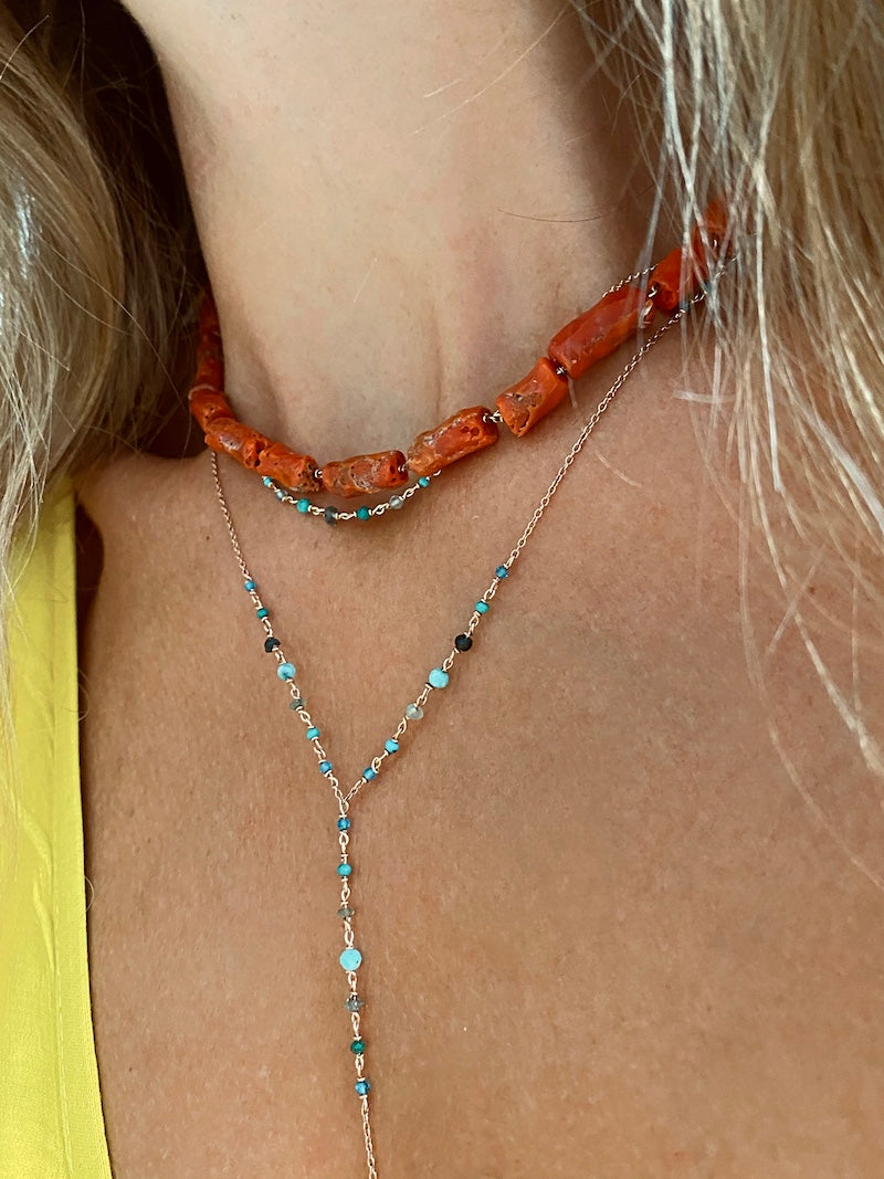 Turquoise Lykopis necklace