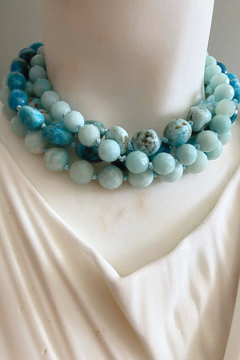 turquoise healing crystal necklace
