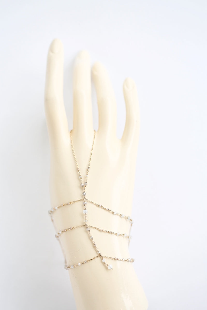 dainty and bohemian hand chain