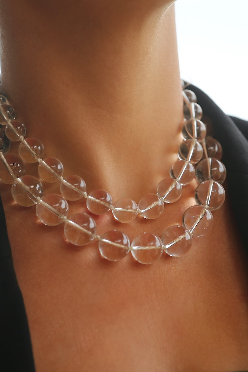 Crystal rock necklace