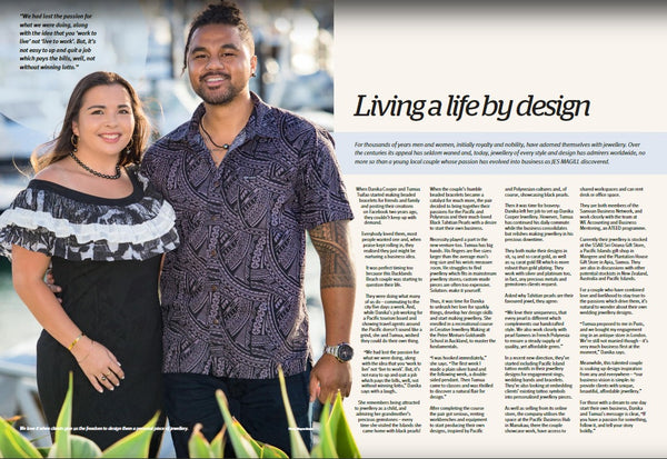 Danika Cooper Jewellery Tahitian Black Pearl Auckland Jewellers Eastlife Magazine Living Life By Design
